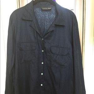 Vintage August Silk Linen Shirt